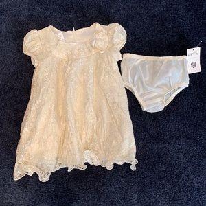 Bonnie Baby Textured Lace Dress